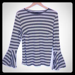 Kaari Blue Stripe Top